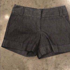 Dark Denim Colored Dress Shorts